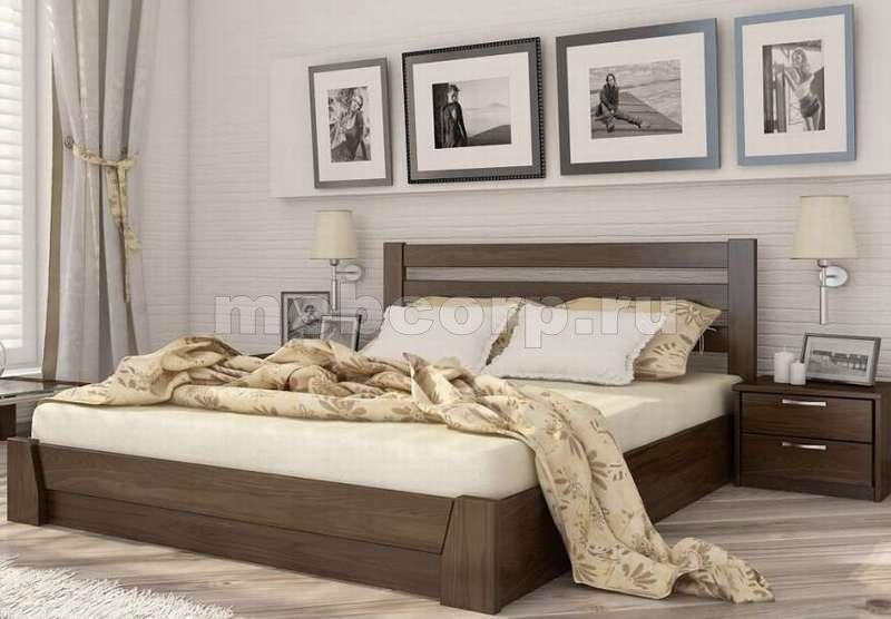 кровати двуспальные взрослые из дуба дизайн фото 1414к