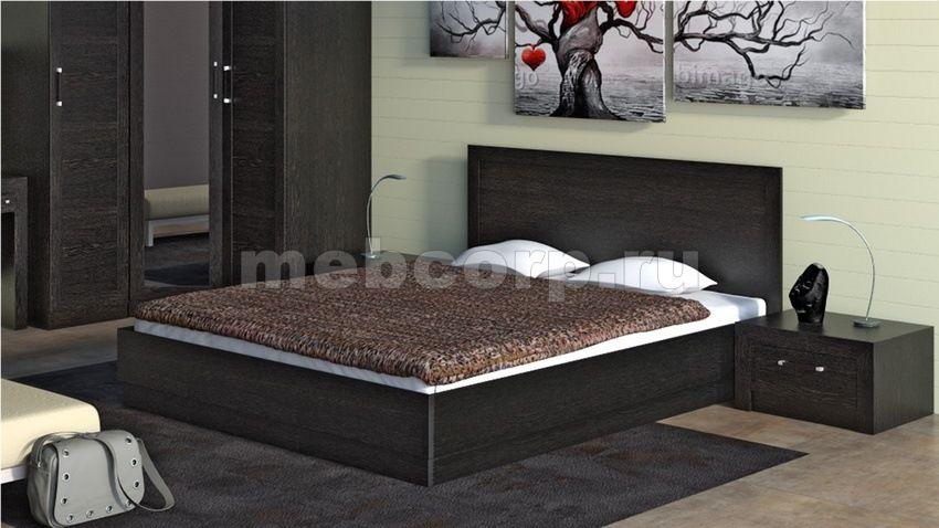 дизайн спальни с мебелью цвета венге фото 43 сп